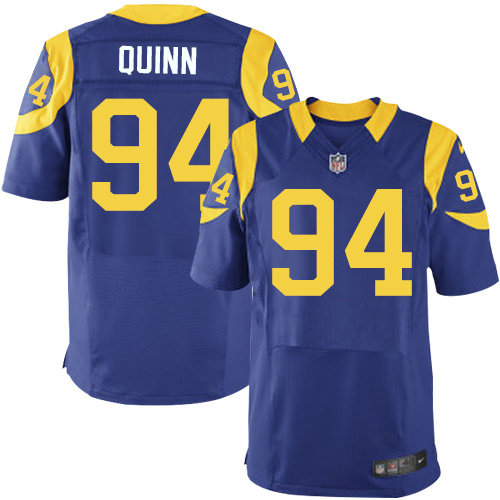 2016 Los Angeles Rams 94 Quinn Blue Nike Elite Jerseys