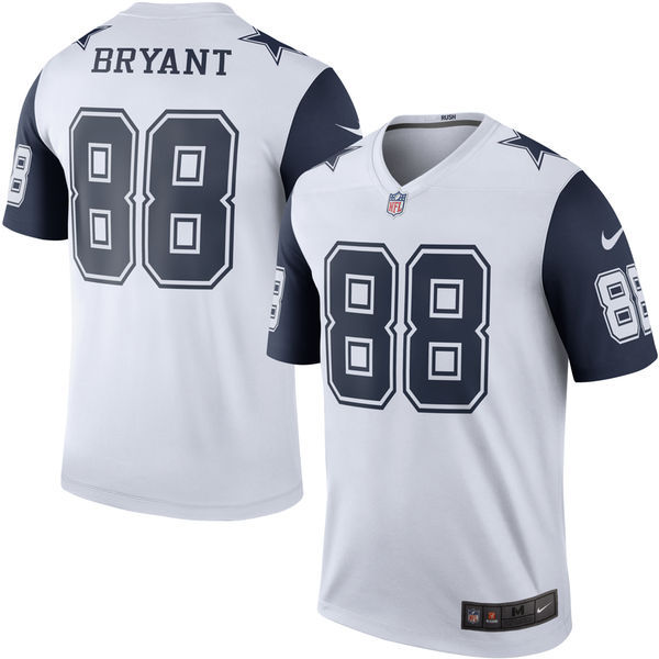 2016 Men Dallas Cowboys 88 Bryant Nike White Color Rush Limited Jersey