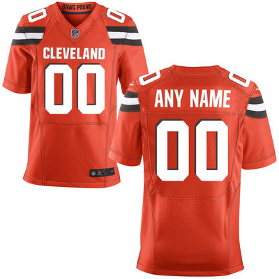 2016 Men's Cleveland Browns Nike Orange Custom Alternate Elite Jersey