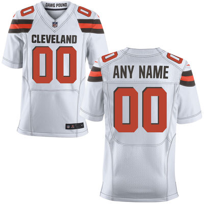 2016 Men's Cleveland Browns Nike White Elite Custom Jersey