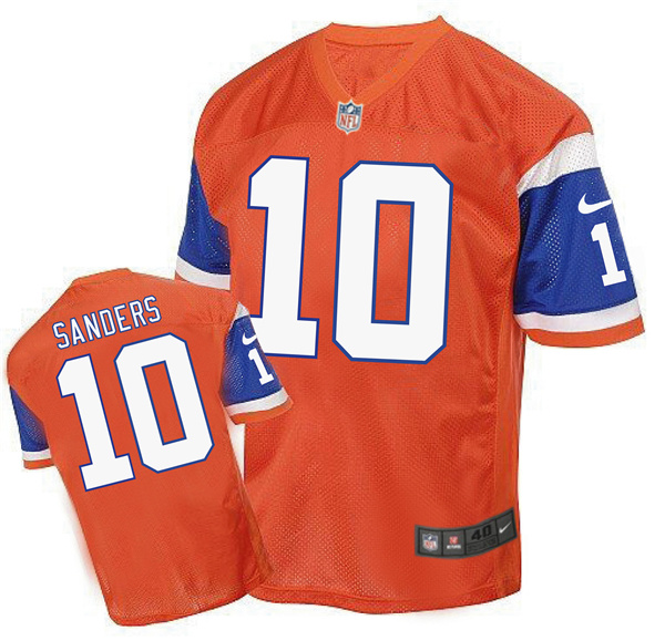 2016 Men's Denver Broncos 10 Sanders Nike Elite orange Jersey