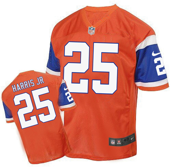 2016 Men's Denver Broncos 25 Harris Jr Nike Elite orange Jersey