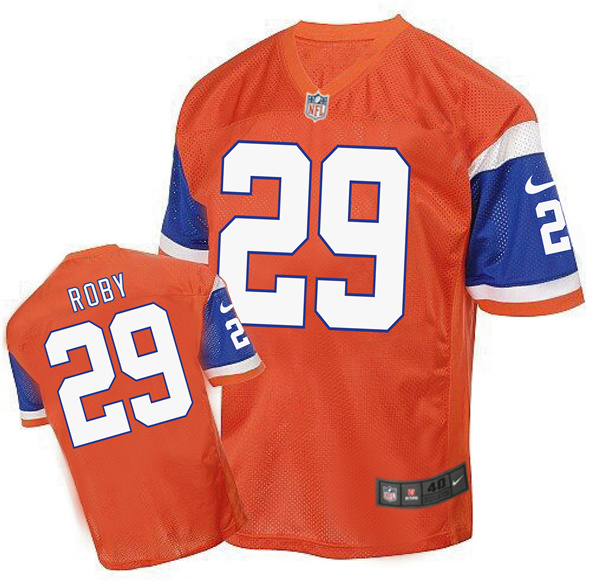 2016 Men's Denver Broncos 29 Roby Nike Elite orange Jersey