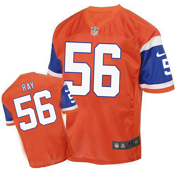 2016 Men's Denver Broncos 56 Ray Nike Elite orange Jersey