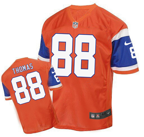 2016 Men's Denver Broncos 88 Demaryius Thomas Nike Elite orange Jersey