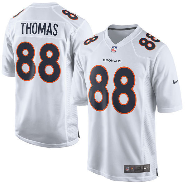 2016 Men's Denver Broncos 88 Demaryius Thomas Nike White Game Event Jersey