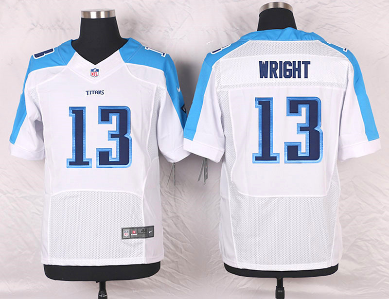 2016 Men's Nike Tennessee Titans 13 Kendall Wright Elite White NFL Jersey