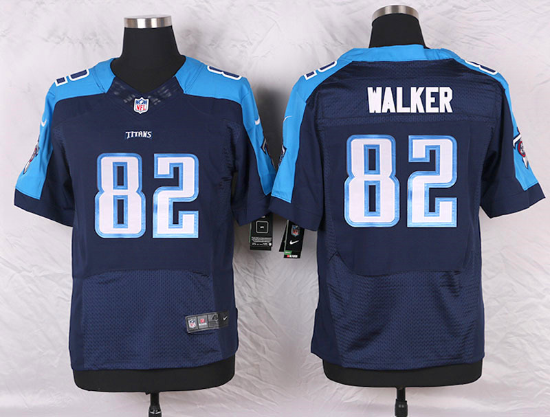 2016 Men's Nike Tennessee Titans 82 Delanie Walker Elite Navy Blue Alternate NFL Jersey