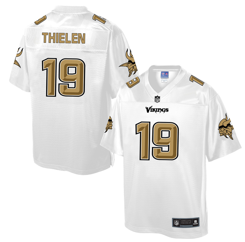 2016 Minnesota Vikings 19 Thielen White Nike Fashion Jerseys