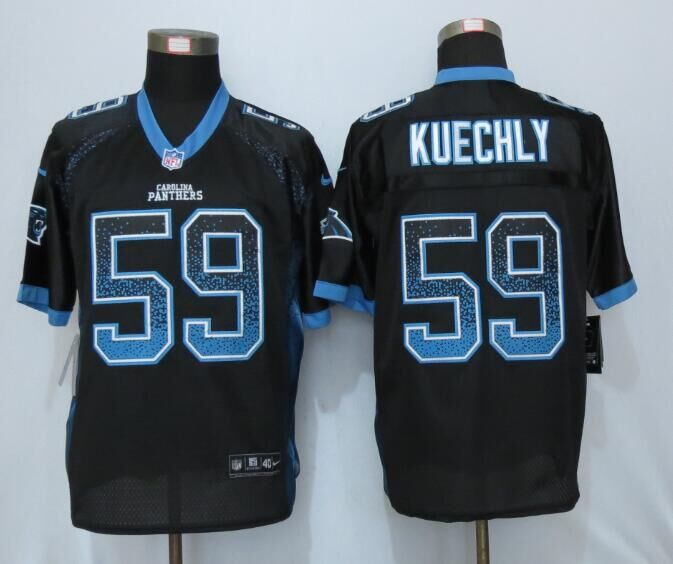 2016 NEW Nike Carolina Panthers 59 Kuechly Drift Fashion Black Elite Jerseys