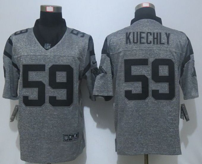 2016 NEW Nike Carolina Panthers 59 Kuechly Gray Men's Stitched Gridiron Gray Limited Jersey