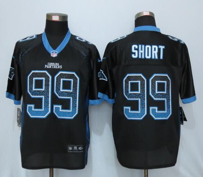 2016 NEW Nike Carolina Panthers 99 Short Drift Fashion Black Elite Jerseys