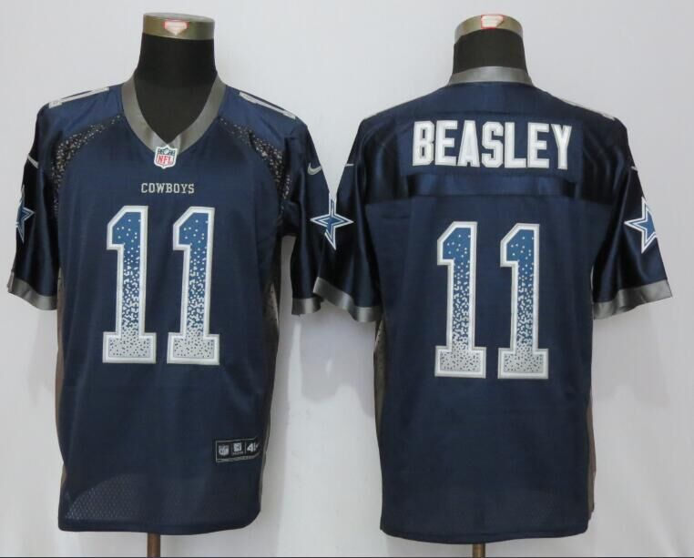 2016 NEW Nike Dallas cowboys 11 Beasley Drift Fashion Blue Elite Jerseys