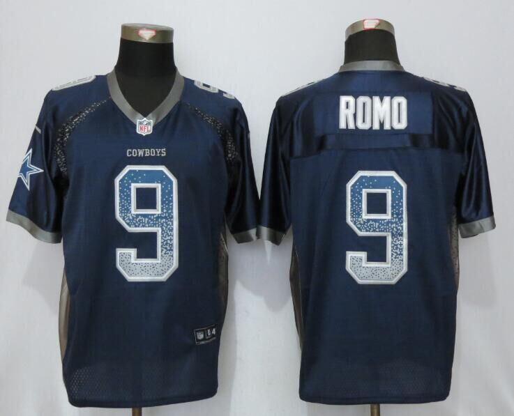 2016 NEW Nike Dallas cowboys 9 Romo Drift Fashion Blue Elite Jerseys