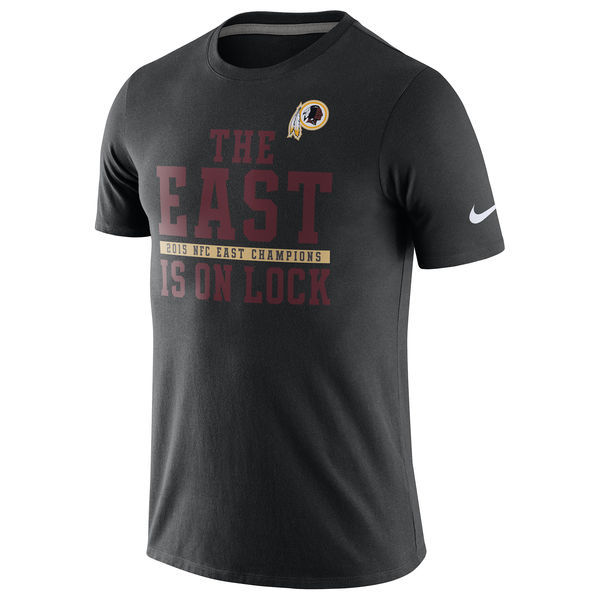 2016 NFL Washington Redskins Nike 2015 NFC East Division Champions T-Shirt - Black