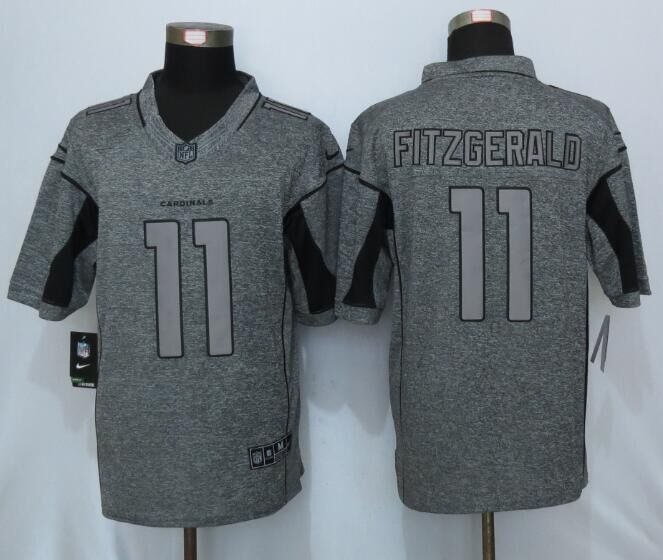 2016 New Nike Arizona Cardinals 11 Fitzgerald Gray Men's Stitched Gridiron Gray Limited Jersey