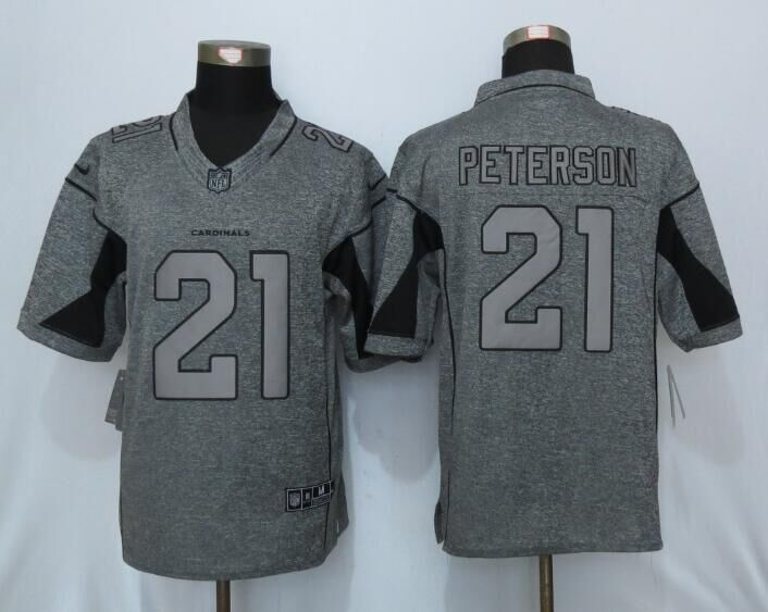 2016 New Nike Arizona Cardinals 21 Peterson Gray Men's Stitched Gridiron Gray Limited Jersey