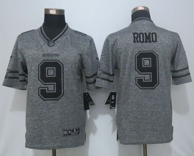 2016 New Nike Dallas Cowboys 9 Romo Gray Men's Stitched Gridiron Gray Limited Jersey.