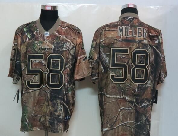 2016 New Nike Denver Broncos 58 Miller Camo Elite Jerseys