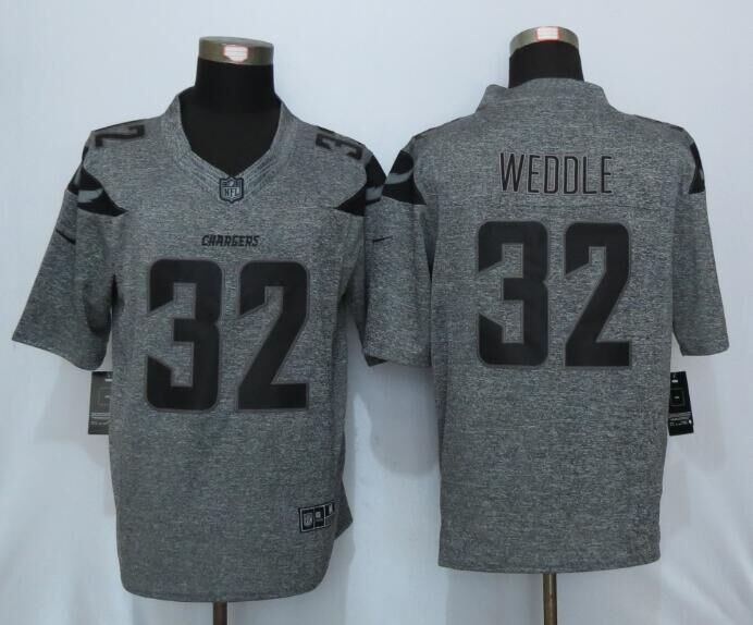 2016 New Nike San Diego Chargers 32 Weddle Gray Men's Stitched Gridiron Gray Limited Jersey