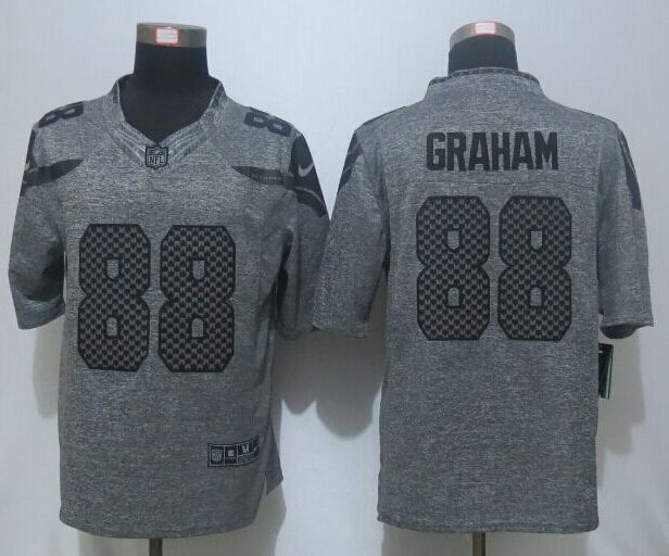 2016 New Nike Seattle Seahawks 88 Graham Gray Men's Stitched Gridiron Gray Limited Jersey