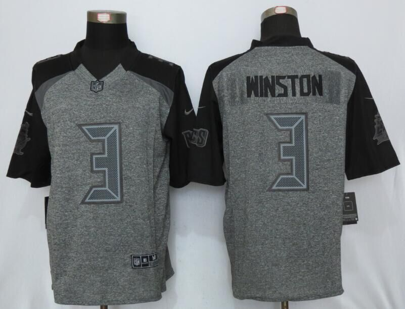 2016 New Nike Tampa Bay Buccaneers 3 Winston Gray Men's Stitched Gridiron Gray Limited Jersey