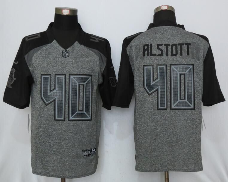 2016 New Nike Tampa Bay Buccaneers 40 Alstott Gray Men's Stitched Gridiron Gray Limited Jersey