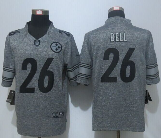 2016 New Pittsburgh Steelers 26 Bell Gray Men's Stitched Gridiron Gray Limited Jersey