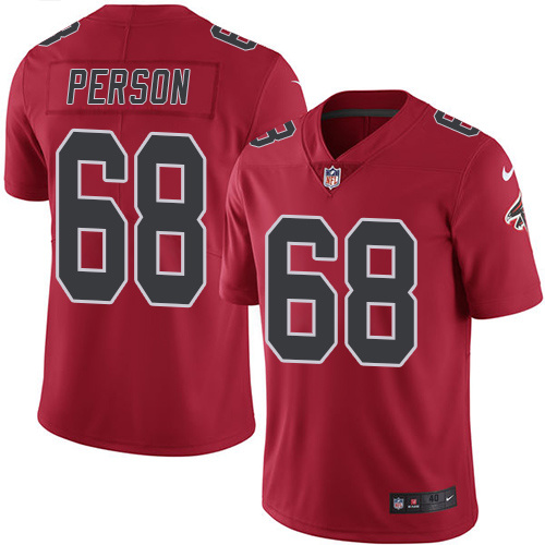 2016 Nike Atlanta Falcons 68 Mike Person Red Mens Stitched NFL Limited Rush Jersey