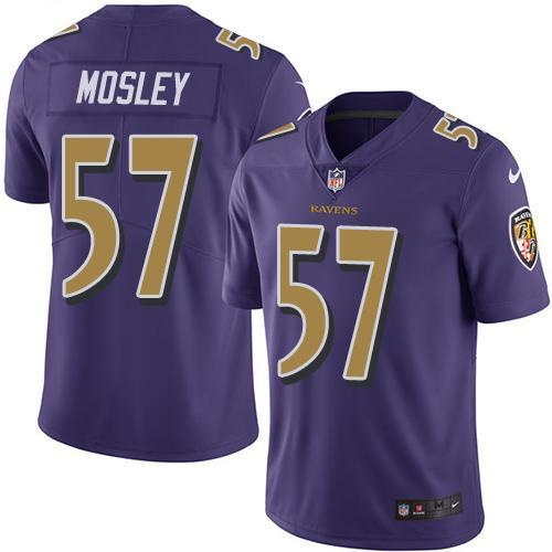 2016 Nike Baltimore Ravens 57 C.J. Mosley Purple Men Stitched NFL Limited Rush Jersey