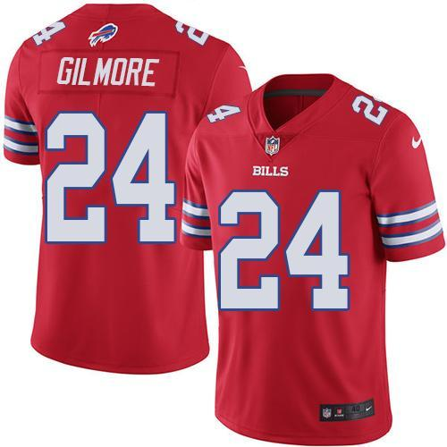2016 Nike Buffalo Bills 24 Stephon Gilmore Red Men Stitched NFL Limited Rush Jersey