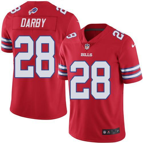 2016 Nike Buffalo Bills 28 Ronald Darby Red Men Stitched NFL Limited Rush Jersey