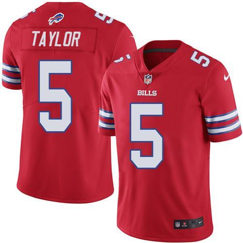 2016 Nike Buffalo Bills 5 Tyrod Taylor Red Men Stitched NFL Limited Rush Jersey