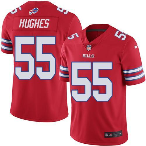 2016 Nike Buffalo Bills 55 Jerry Hughes Red Men Stitched NFL Limited Rush Jersey