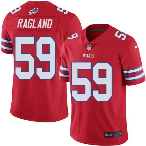 2016 Nike Buffalo Bills 59 Reggie Ragland Red Men Stitched NFL Limited Rush Jersey