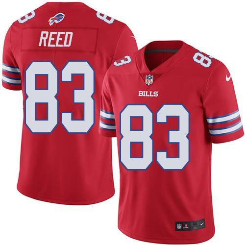2016 Nike Buffalo Bills 83 Andre Reed Red Men Stitched NFL Limited Rush Jersey