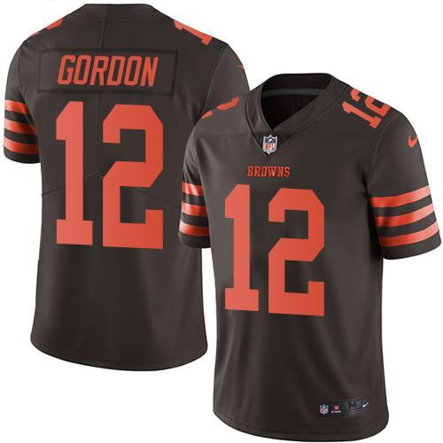 2016 Nike Cleveland Browns 12 Josh Gordon Brown Men Stitched NFL Limited Rush Jersey