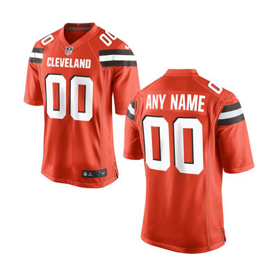 2016 Nike Cleveland Browns Youth Orange Custom Jersey
