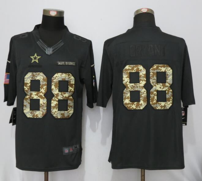 2016 Nike Dallas Cowboys 88 Bryant Anthracite Salute To Service Limited Jersey
