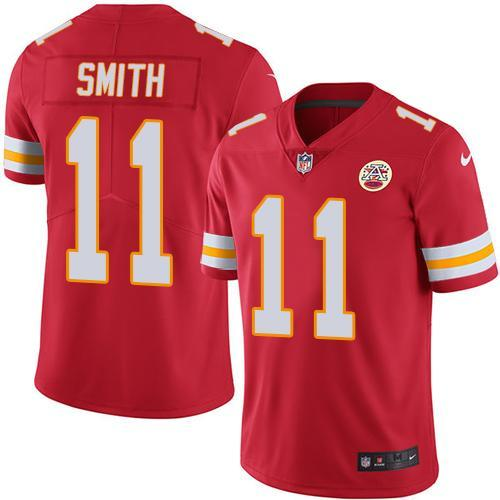 2016 Nike Kansas City Chiefs 11 Alex Smith Red Men Stitched NFL Limited Rush Jersey
