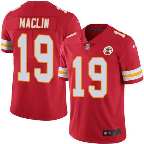 2016 Nike Kansas City Chiefs 19 Jeremy Maclin Red Men Stitched NFL Limited Rush Jersey