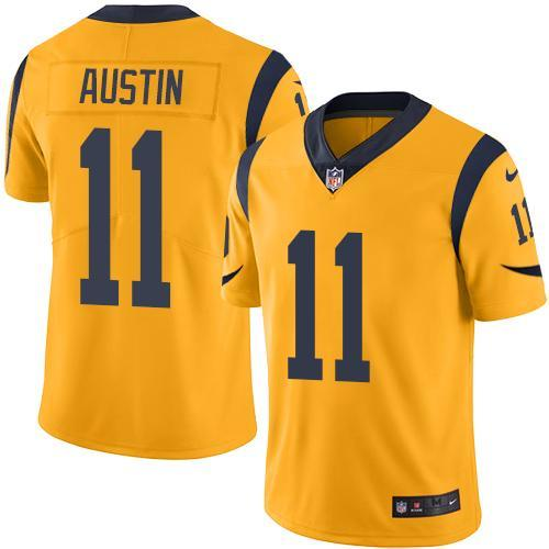 2016 Nike Los Angeles Rams 11 Tavon Austin Gold Men Stitched NFL Limited Rush Jersey