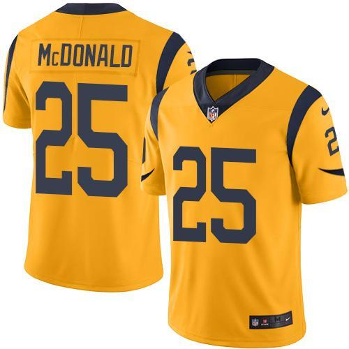 2016 Nike Los Angeles Rams 25 T.J. McDonald Gold Men Stitched NFL Limited Rush Jersey