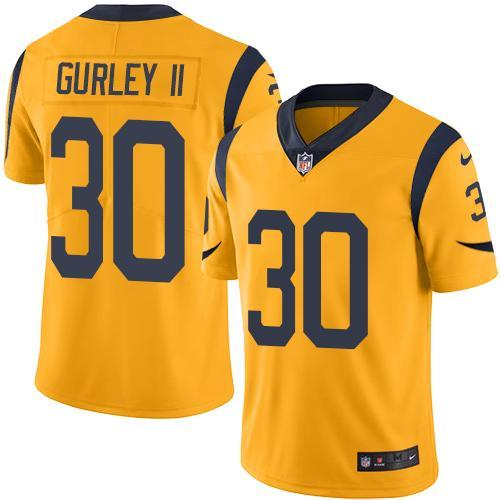 2016 Nike Los Angeles Rams 30 Todd Gurley II Gold Men Stitched NFL Limited Rush Jersey