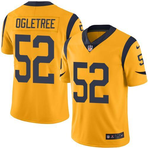 2016 Nike Los Angeles Rams 52 Alec Ogletree Gold Men Stitched NFL Limited Rush Jersey
