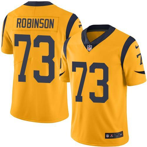 2016 Nike Los Angeles Rams 73 Greg Robinson Gold Men Stitched NFL Limited Rush Jersey