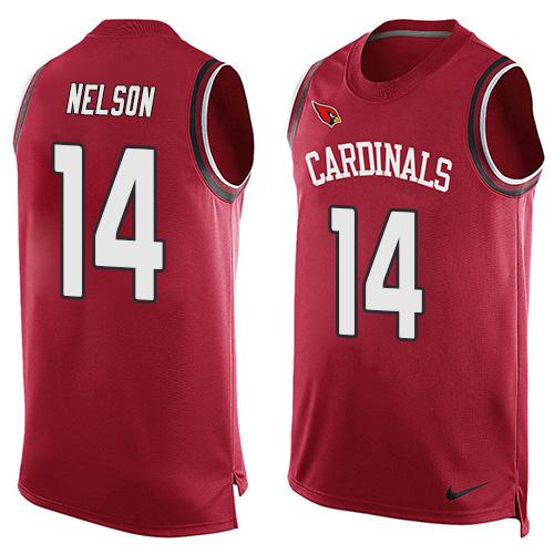 2016 Nike NFL Arizona Cardinals 14 J.J. Nelson Red Men Stitched Limited Tank Top Jersey