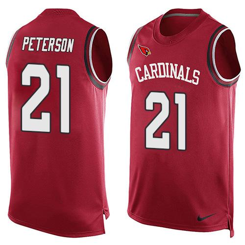 2016 Nike NFL Arizona Cardinals 21 Patrick Peterson Red Men Stitched Limited Tank Top Jersey