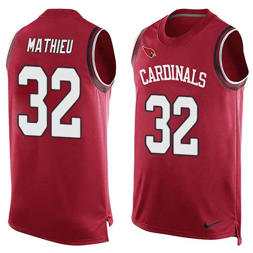 2016 Nike NFL Arizona Cardinals 32 Tyrann Mathieu Red Men Stitched Limited Tank Top Jersey