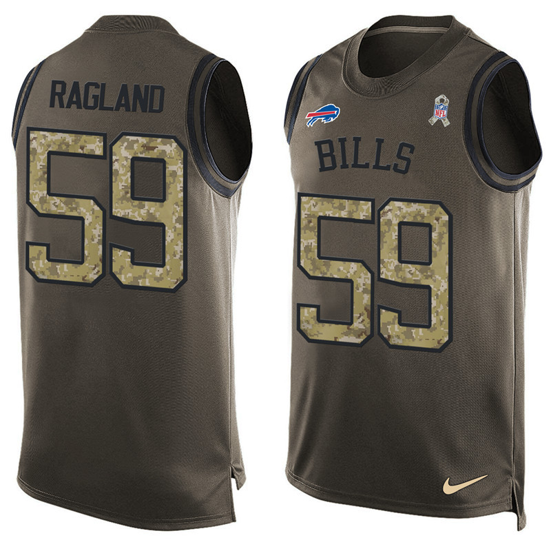 2016 Nike NFL Buffalo Bills 59 Ragland men Olive Salute To Service Limited Tank Top Jersey